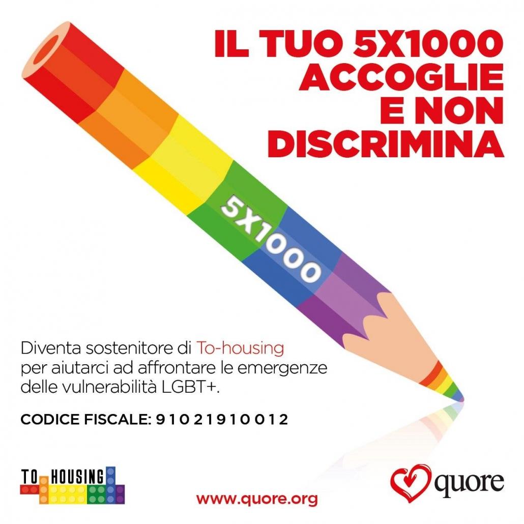 Dona il 5x1000 all'Associazione Quore LGBTQI